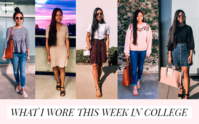 What I Wore This Week in College | 5 Spring Outfits